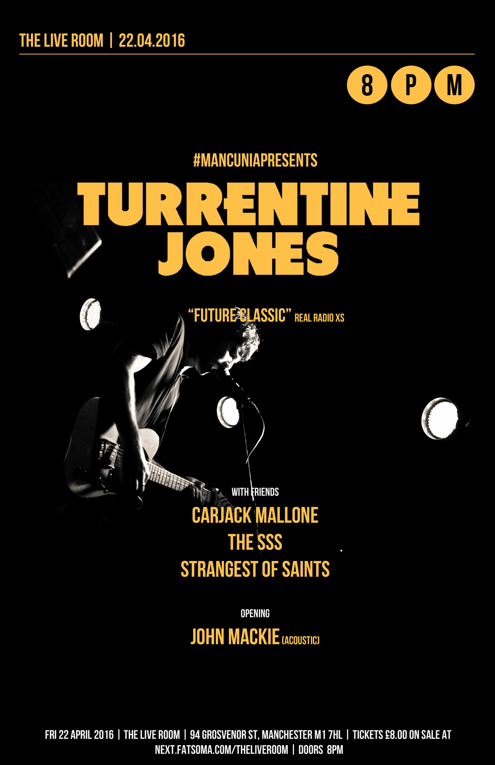 Turrentine Jones at Live Room April 22nd 2016