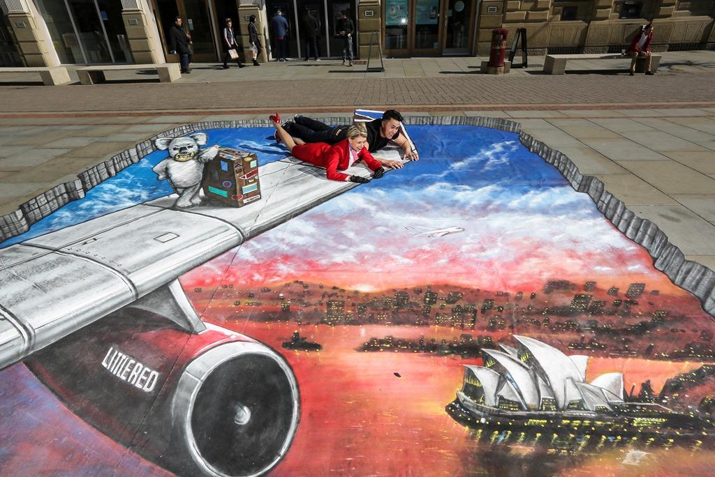 3d street art Manchester