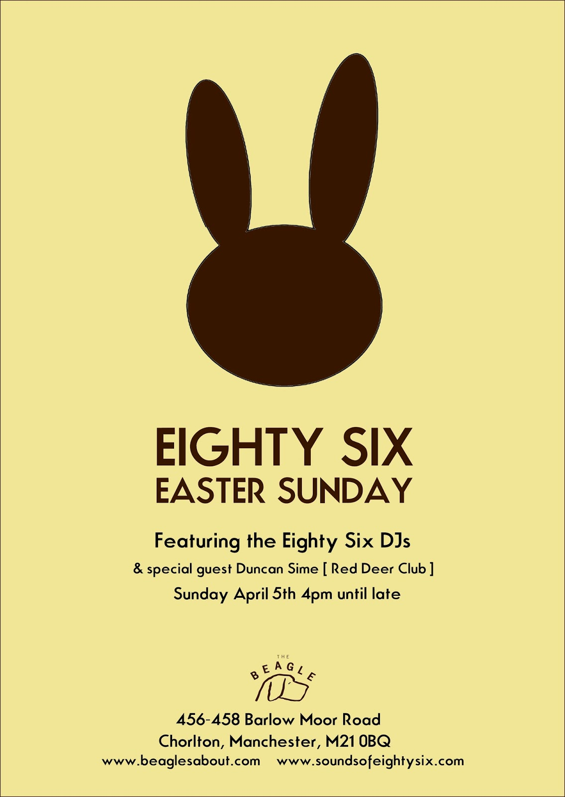 Eighty Six DJs Easter Sunday vinyl-only soundtrack
