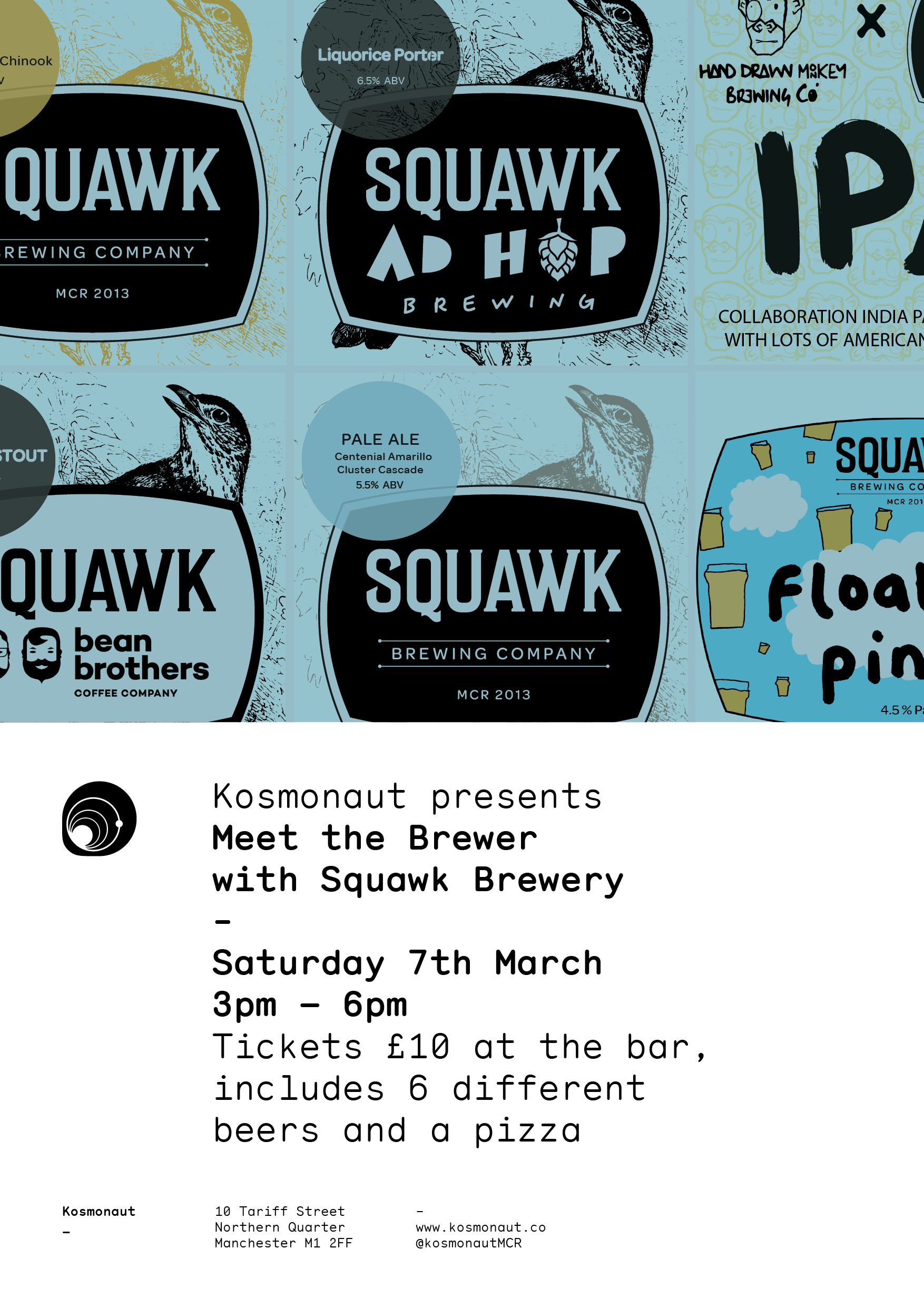 Meet the Brewer with Squawk Brewing Company at Kosmonaut