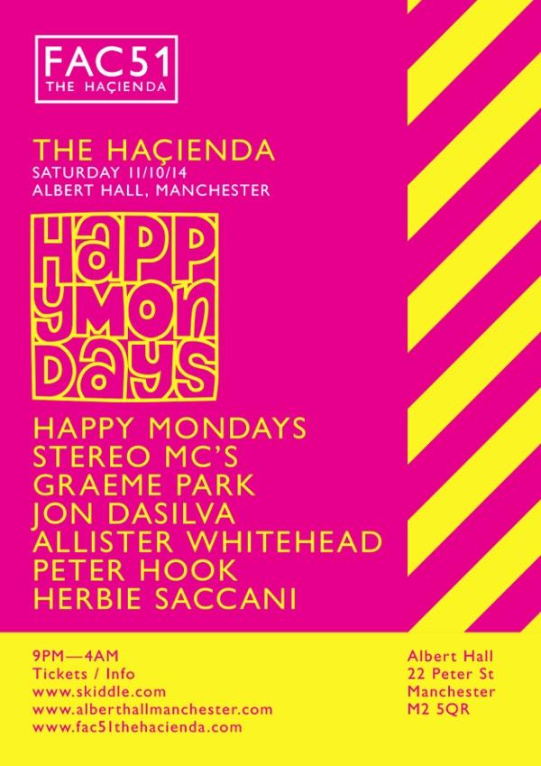Happy Mondays to headline next FAC 51 The Hacienda event