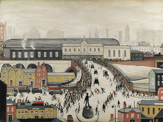 Tonight, in Sotheby's sale of Modern & Post-War British Art, an exceptional work by L.S. Lowry, Station Approach, Manchester (dated 1960), sold for £2.3 million.