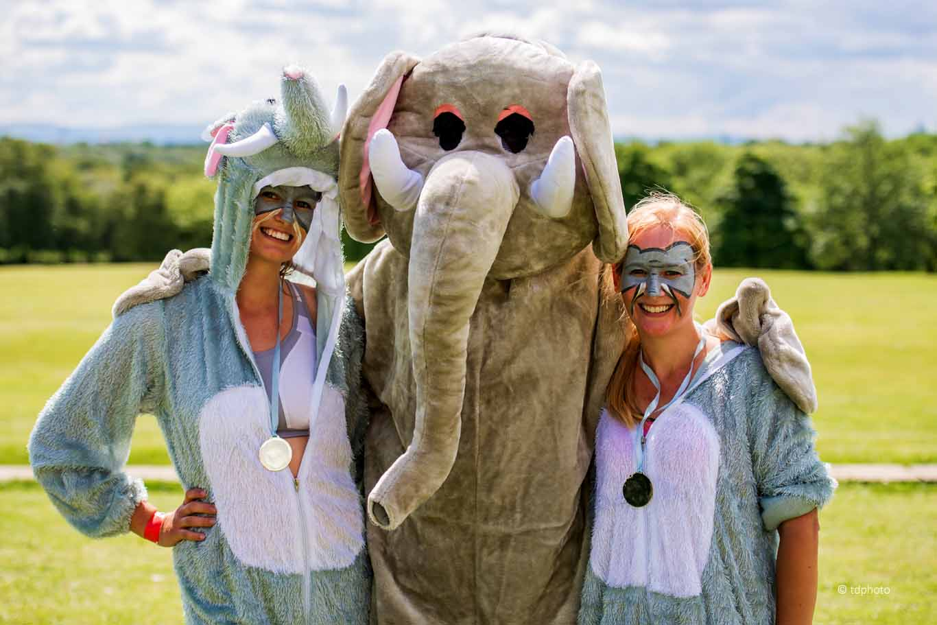 Two legged elephants take over Heaton Park to fund conservation efforts