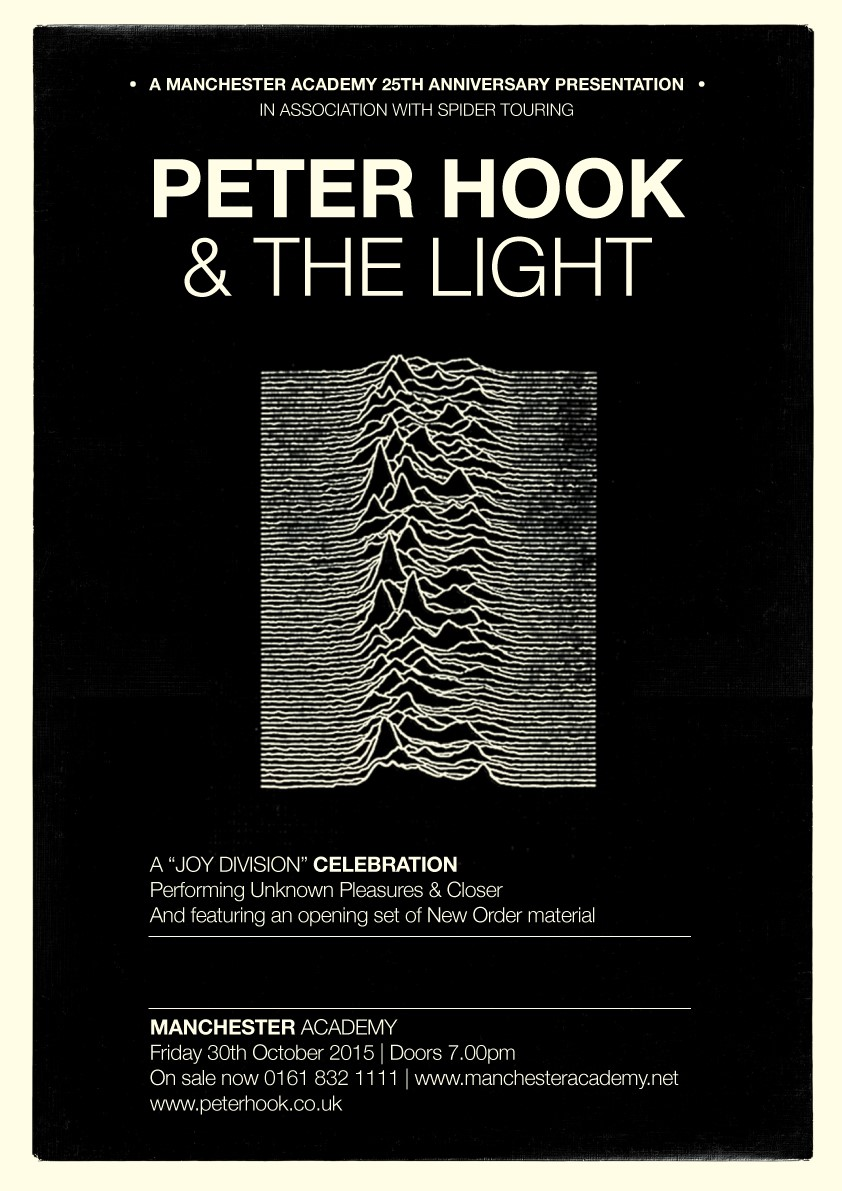 Peter Hook & The Light To Perform Joy Division albums at Manchester Academy's 25th Anniversary