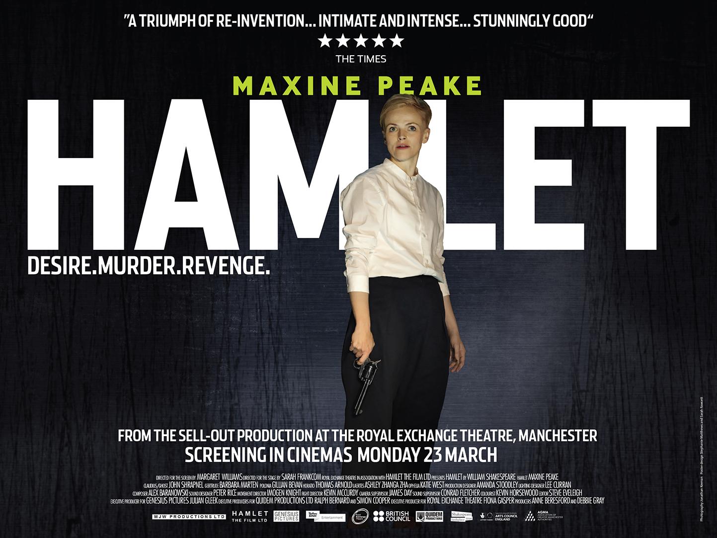 Maxine Peake as HAMLET - In cinemas Monday 23rd March 2015
