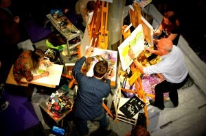 Brushes at the ready for Live Competitive Painting
