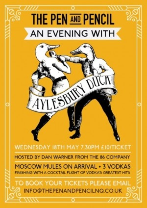 An Evening with Aylesbury Duck Vodka