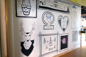 PLY's Doodle Wall Installation