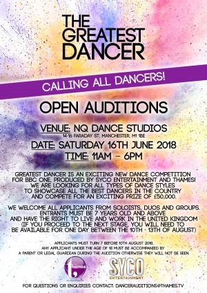 New TV Danceshow is searching for Manchester Talent