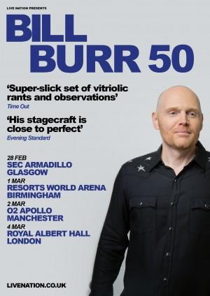 Bill Burr Announces 2019 U.K. Tour