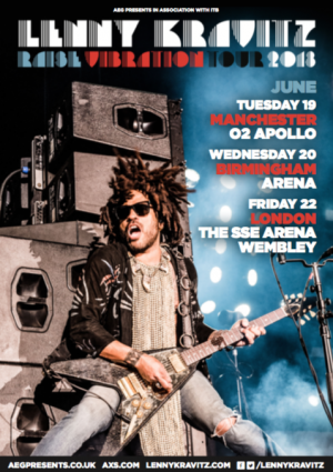 Lenny Kravitz to play Manchester 02 Apollo