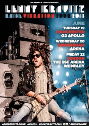 Lenny Kravitz to play Manchester 02 Apollo