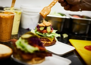The Meatless Farm popup at Hatch on Oxford Road