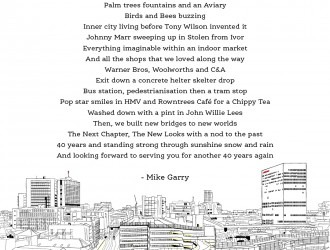 Mancunian poet Mike Garry pens tribute to The Arndale ahead of its 40th anniversary