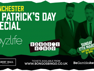 Bongo's Bingo Reveals St Patrick's Special with Boyzlife – Sunday 17th March