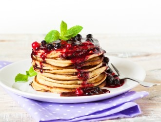 Gingerbread Pancakes with Coconut Yoghurt and Spiced Fruit Compote By Natural Chef Francesca Klottrup for CNM