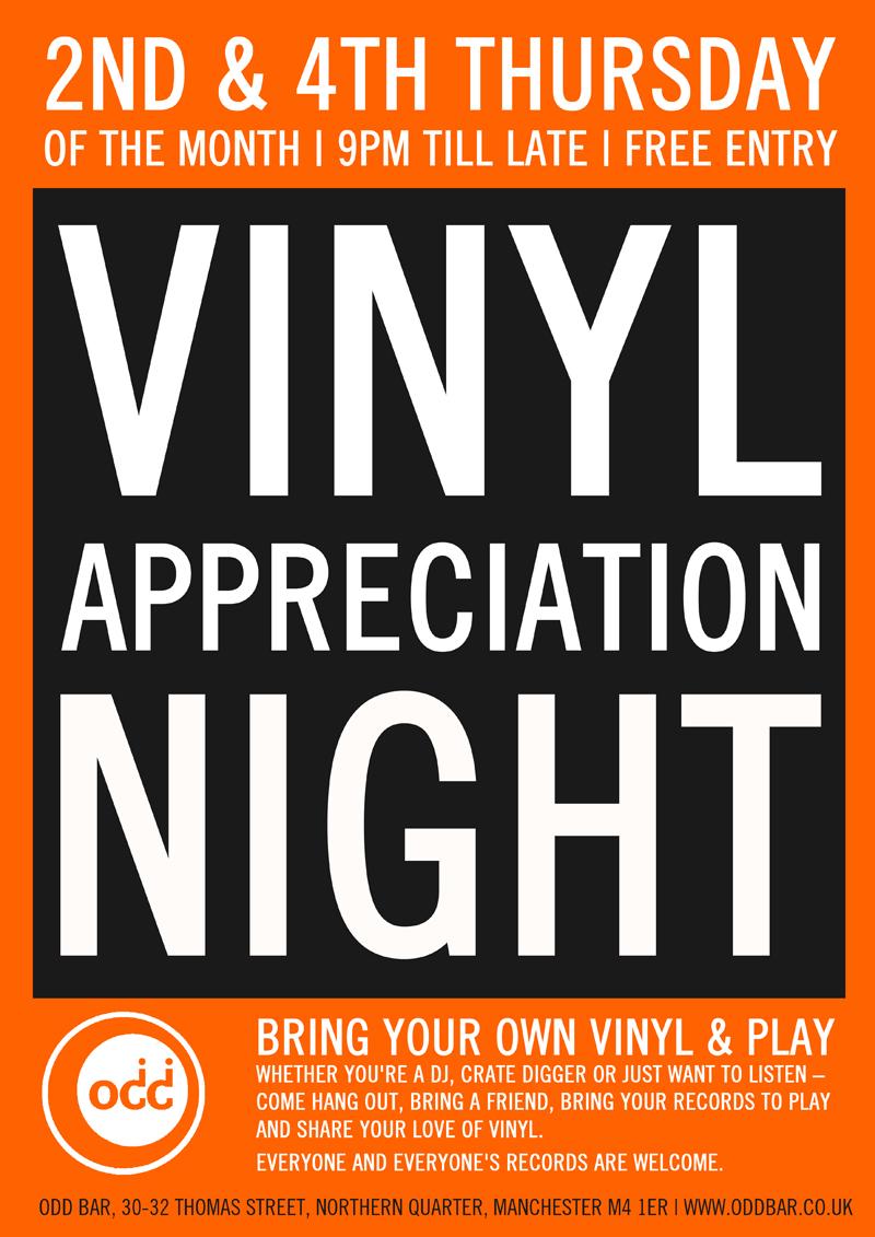 New! Vinyl Appreciation Night at ODD BAR